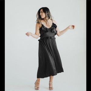 Carly Jean LA Elenora Midi Ruffle Dress Size M